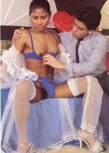 retro asian tranny girl seducing a guy